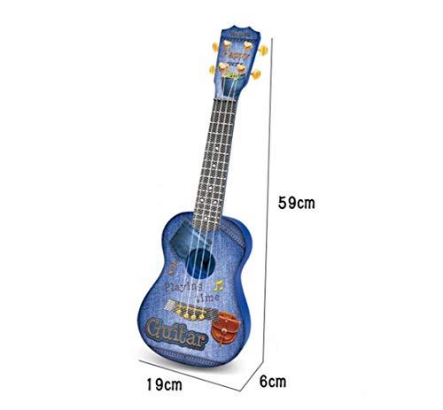 Große Auswahl an Anwendungen Kinder Simulation Gitarrensaiten Ukulele Instrument (Blau)