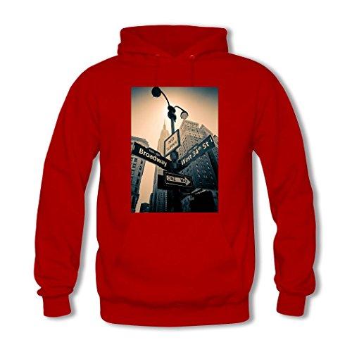 HKdiy Empire State Building Custom Men's Classic Hoodie Red