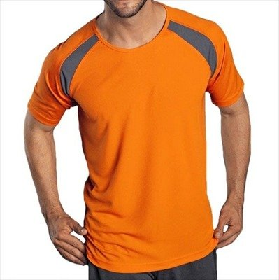 Hanes - Men's Tagless Crew Neck T Contrast Sports - Auslaufmodell!!