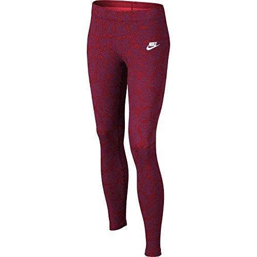Nike G NSW LGGNG AOP - Leggins Rot - M - Mädchen