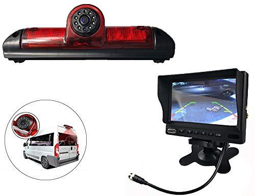 Vision de Nuit la Vue arrière imperméables IR Renforts troisième Frein lumière caméra pour Fiat ducato Fin 2006-2015 3 gen, Peugeot Boxer, citroën Jumper + 7 Pouces HD inverser rétroviseur surveiller