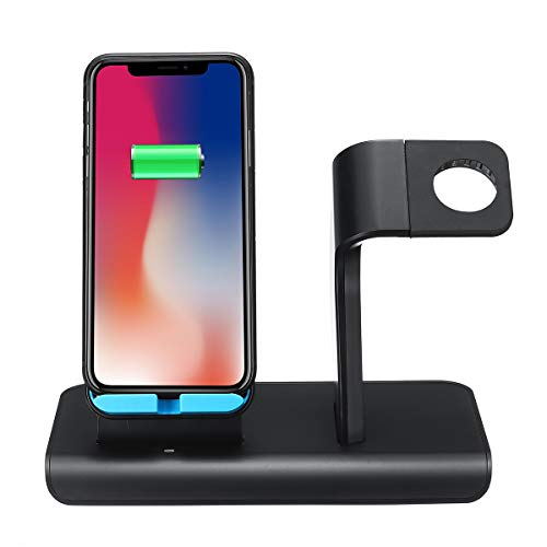 Seasiant India 10W 2 in 1 Qi Wireless Charger Fast Charging Phone Watch Holder for iPhone Samsung Huawei Apple Watch Series Single Item