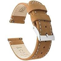 Barton horlogebandjes snelsluiting. - Topmerk leren horlogebandjes - keuze van kleur en breedte 18 mm, 20 mm of 22 mm band