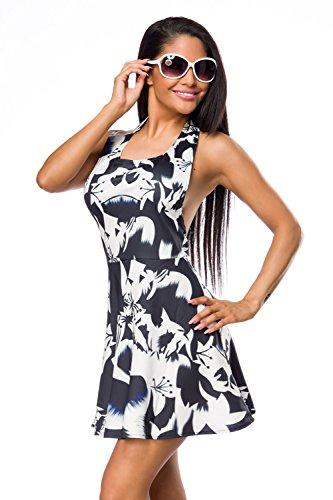 Sommerkleid von Luxury & Good Dessous Schwarz/Weiß
