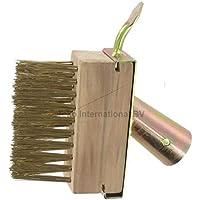 1x para juntas limpiador cepillo de acero malas hierbas Cepillo para juntas Juntas malas hierbas ihne Mango alambre cepillo de juntas