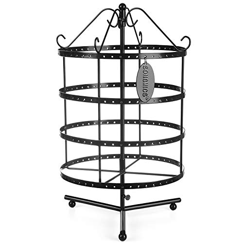 Black Metal Jewellery Stand
