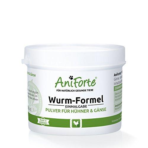 AniForte Wurm-Formel 50 g- Naturprodukt für Hühner, Gänse und Grossvögel