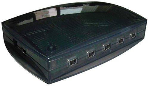 5-fach Firewire Hub 4-polig mit Netzteil