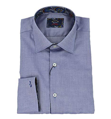 Paul & shark - uomo camicia collo classico oxford blu i18p3280cf 193-27513 - 41