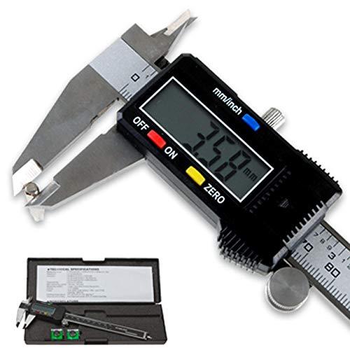LUPO 150mm/6 Zoll Hochpräzise Edelstahl Schieblehre, Digitale Schieblehre mit LCD Display für, Durchmesser Messung Tiefenmesser, Geeignet für Haushalt und Industrie -