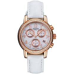 Ladies gold plated watch/Casual fashion watches/ simple waterproof watch-A