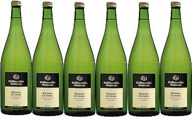 Pfaffenweiler Weinhaus Weißer Gutedel Qualitätswein trocken (6 x 1,0L)