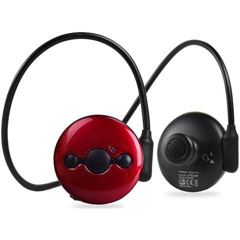Avantree Jogger Pro Cuffie Wireless Bluetooth aptX V4.0 Impermeabili Stereo - Headset Sport con Microfono per Running e Palestra - Leggere Salde e Sicure - Red Jogger