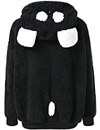 Mantel Damen,Damen Plüschjacke Süßer Bär Ohr Panda Winter Warm Hoodie Mantel Frauen Kapuzenjacke Oberbekleidung... preisvergleich bei kinderzimmerdekopreise.eu