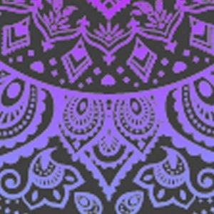 kwmobile Funda para bq Aquaris M5.5 / M 2017 - Case para móvil en TPU silicona - Cover trasero Diseño Sol hindú en azul rosa fucsia transparente