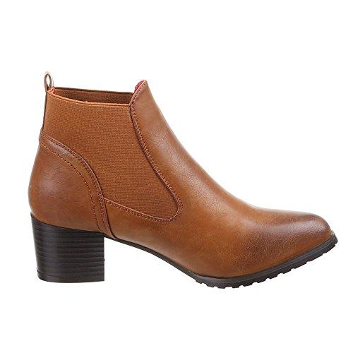 Chaussures, 624–gA-femme Marron - Camel