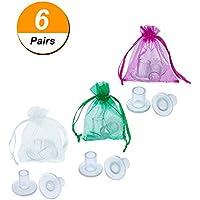 Preisvergleich für 6�Paar High Heel Protectors Ferse Pfropfen, klein/mittel/gro� (transparent)