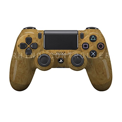 PS4 trådløs controller strålende WTP-550-Golden-Karpaterne Elm Burl-personlig Painted- Uden Mods