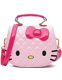 Beebeerun Baby Girl's ABS Pink Cartoon Kitty Bag Single Shoulder Cross Body Bag (4-12 Years)