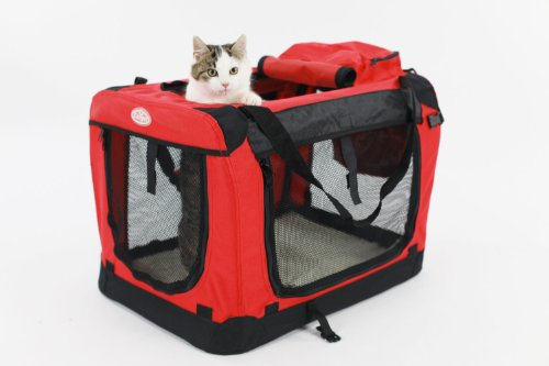 Easipet Fabric Carrier, Medium, 60 x 42 x 42 cm, Red
