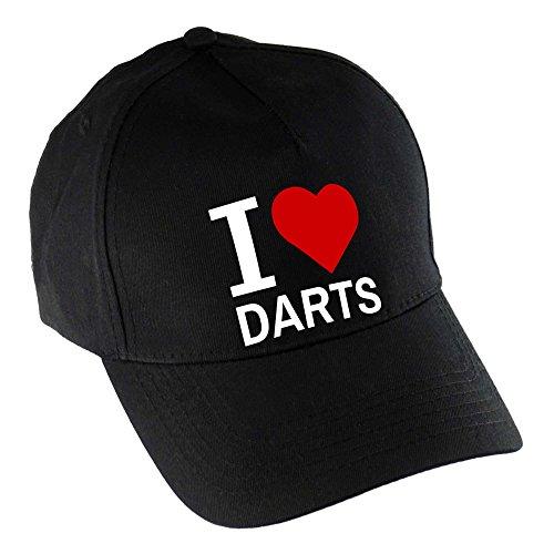 *Baseballcap Classic I Love Darts schwarz*
