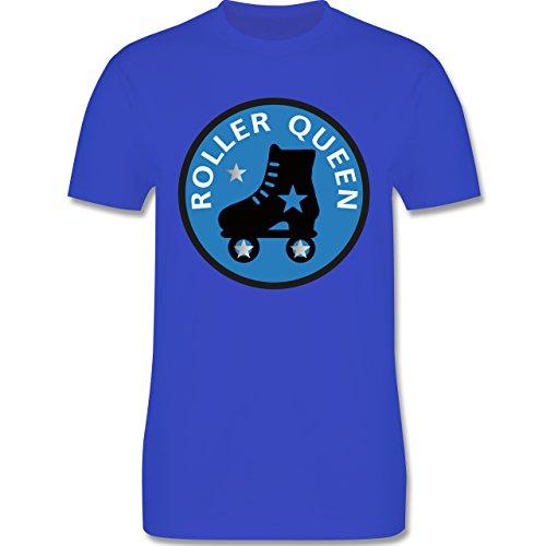 Vintage - Roller Queen Rollschuh - Herren Premium T-Shirt Royalblau