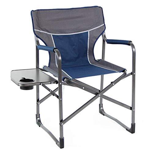 Wzhfoldingtable sedia da campeggio portatile sedia pieghevole per esterni multifunzionale sedia da pesca in alluminio adatto per la spiaggia campeggio viaggio multi-colore opzionale (colore : blu)