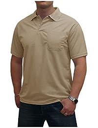 S&LU Super Herren Basic Polo Shirt Uni Baumwoll-Piqué/Auch im 3er-Pack und 10er-Pack erhältlich