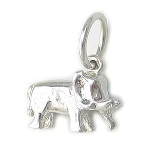 éléphant PETIT ARGENT STERLING breloque .925 x 1 éléphants breloque ec1772