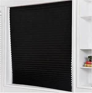 D/écoup/é. Autocollant /à Fixation Rapide Blinder Store pliss/é temporaire Noir 90 x 1500 cm
