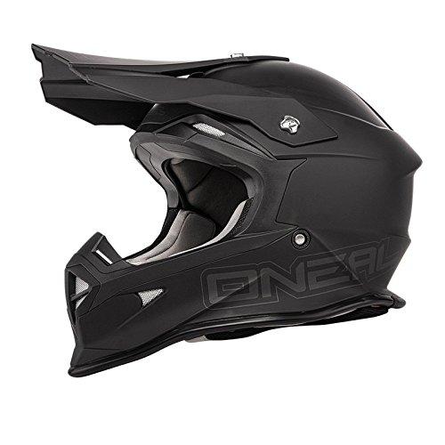 O'Neal 2Series MX Helm FLAT Schwarz Motocross Enduro Offroad, 0200F-30, Größe L (59/60 cm)