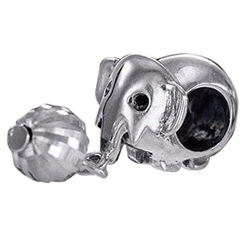 Materia 925 plata esterlina granos Elefant con pelota antiguo Element - granos...