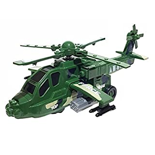 Aojia Toys Spielzeug Army Militär Helikopter Hubschrauber LED Sound