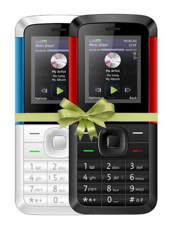 I KALL K5310 Dual Sim COMBO OF TWO Basic Feature Phone Mobile With Bluetooth, 1.8 Inch Display , GPRS, Flash Light, Memory Expandable Upto 8GB , 1000 MAH Battery Capacity And 1 Year Warranty- Red Black & White Blue