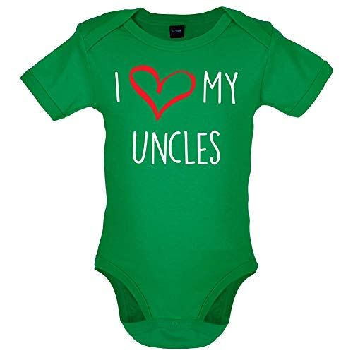 I Love My Uncles - Bébé-Body - Vert - 0 à 3 Mois