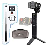 Feiyu G6 3-Splash Splashproof Gimbal, FeiyuTech Gimbal Handheld Action Camera for GoPro Hero/Sony / Yi 4K, Wifi and Bluetooth Connect Mode, OLED Indicator, Come with Extension, Side Clamp