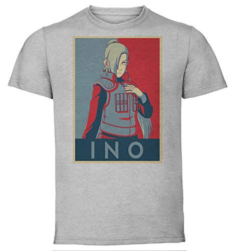 T-Shirt Unisex - Color Grey - Propaganda - Naruto - Ino Size Large