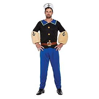 Emmas Kleiderschrank Sailor Kostüm Herren - Navy Outfit für Ihre nächsten 90er oder Pool-Party UK Größe M-L (Men: Large, Blue)
