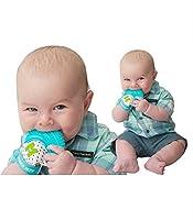 """INNOVATIVEmitts-green Il Mouthie Mitten Teether è una soluzione per la dentizione """"a portata di mano"""" che impedisce la costante caduta di giocattoli da dentizione. Fornisce un facile sollievo dal dolore per i bambini che stanno ancora imparan..."""