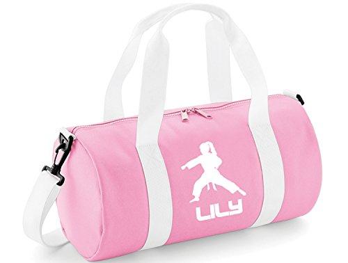 sche für Kinder, mit Karate-/Fitness-Thema, Baby Pink & White / White Print, 40 x 20 x 20cm ()