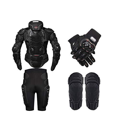 Gratydallks Motorrad Rüstung Schutz Körper Rüstung Schutzausrüstung Motocross Moto Jacke Motorrad Jacken mit Nackenschutz one set S