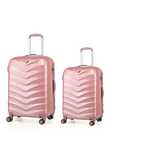 Verage Hartschalenkoffer Seagull 2er Koffer-Set M+L (66-75 cm) 4 Räder Rosegold TSA-Schloss, 2 teilig Hartschale-Reisekoffer-Set Trolley