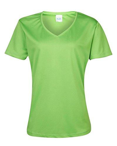 AWDis pour femme adulte Cool Cool T-Shirt col V Touchlines T-Shirt à manches courtes pour femme Vert - Vert citron