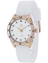 Ref. B35257/3 Reloj Marea Mujer, analógico, caja de acero, correa de caucho blanco, sumergible 50 metros, garantía 2 años.