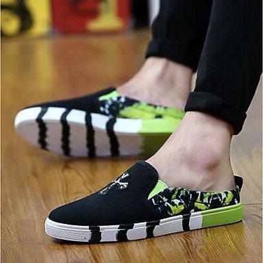 Slippers & amp da uomo;Casual Estate Comfort Light Soles tela di canapa, sandali neri sandali Green