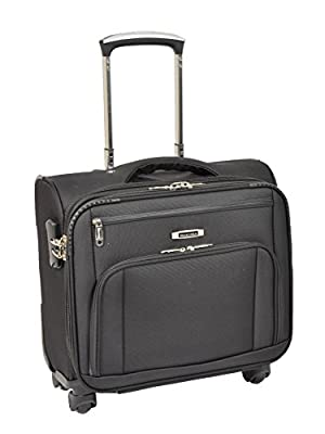 Pilot Case 4 Wheel Spinner Cabin Laptop Business Briefcase Bag H891 Black