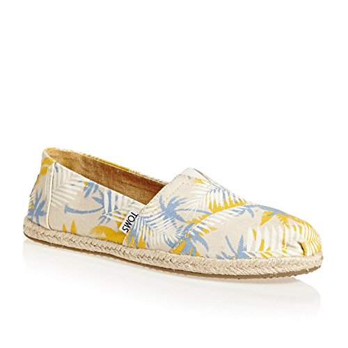 TOMS Womens Classics Birch Tropical Palm Rope Sole 42