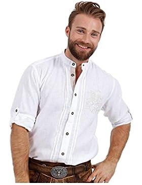 Michaelax-Fashion-Trade Krüger - Herren Trachtenhemd in Weiß, Alfons (93112-1)