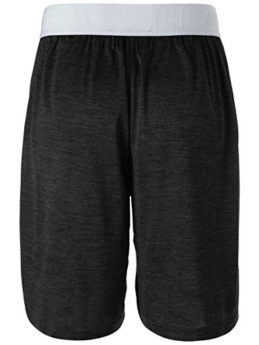 HEAD-Mens-Team-Heather-Workout-Gym-Running-Shorts-wElastic-Waistband-Drawstring