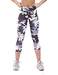 pengweiPantalons de yoga de camouflage pantalons ¨¦lastiques ¨¦lastiques rapides